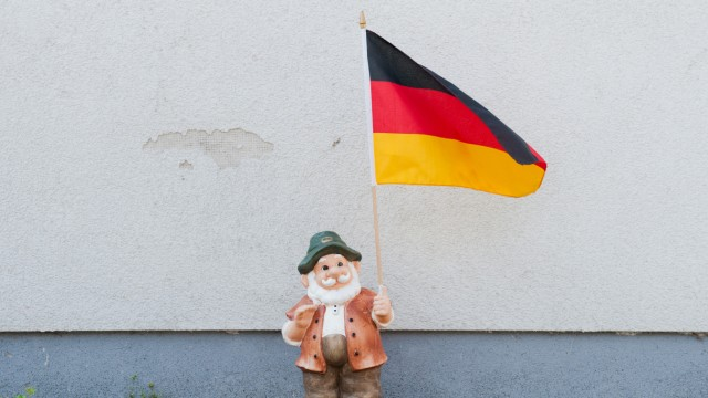 World Cup 2014 - Gartenzwerg mit Deutschland-Flagge