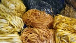 Pasta is displayed at the Alimentaria trade show in Barcelona