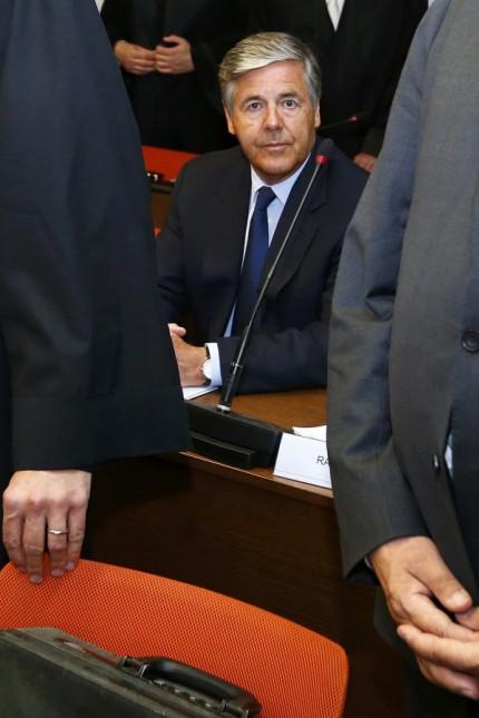 Former Deutsche Bank CEO Ackerman awaits start of trial in courtroom in Munich