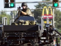 Militärfahrzeug der US-Polizei