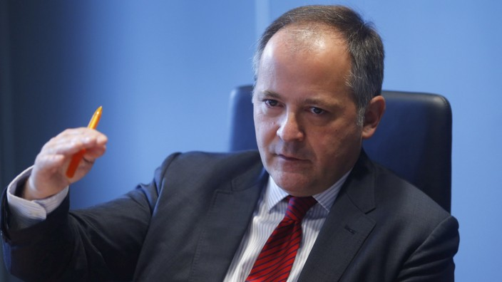 Coeure, executive board member of the ECB, speaks during an interview with Reuters in Frankfurt