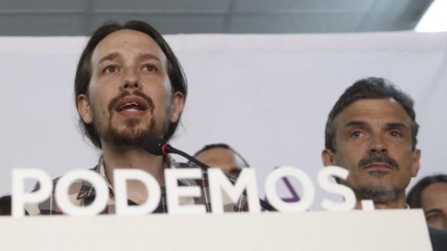 Podemos Party celebrates electoral results