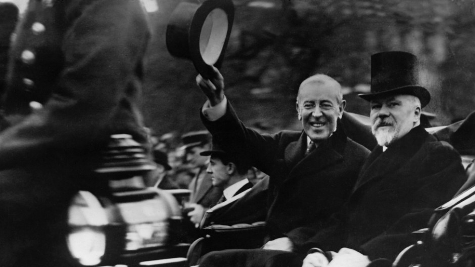 Woodrow Wilson und Raymond Poincaré, 1918