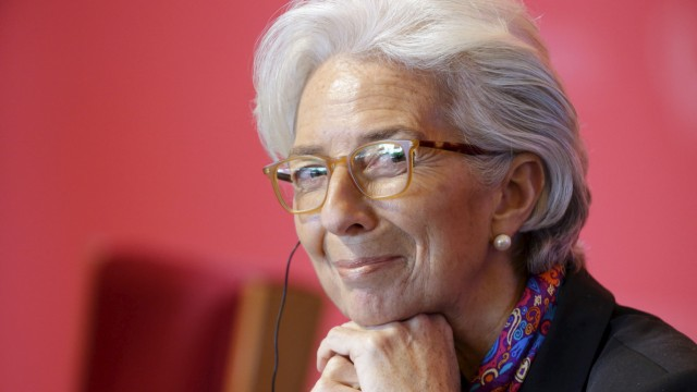 Lagarde smiles as she attends the China Development Forum in Beijing