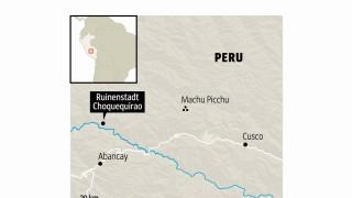 Peru Inka-Stätte Choquequirao in Peru