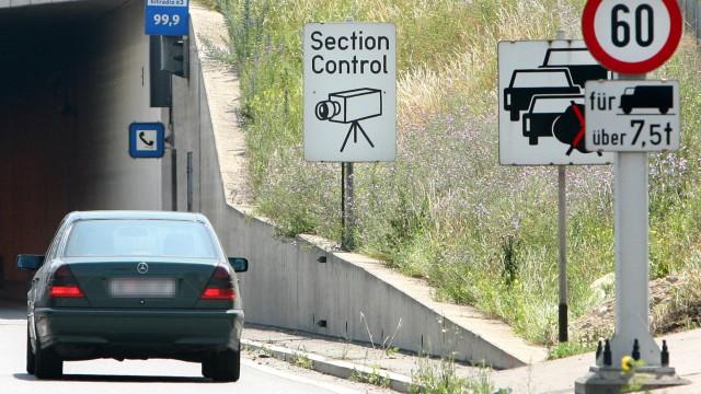 """Mit ´Section control"""" gegen Raser auf gefährlichen Autobahnstrecken"""