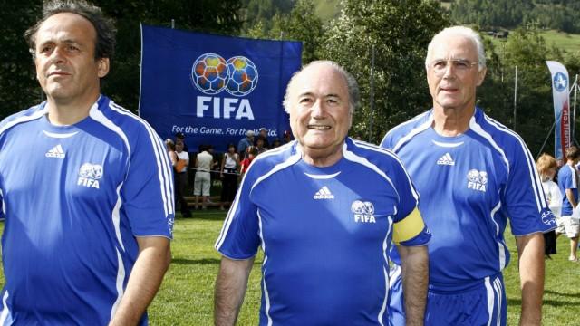 Platini, Blatter und Beckenbauer