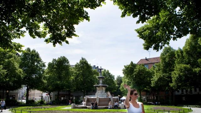 Weißenburger Platz, Haidhausen, Brunnen