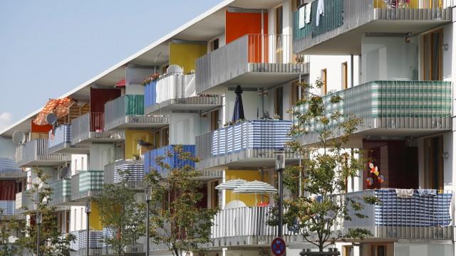 Germany Bavaria Munich Riem View of modern buildings PUBLICATIONxINxGERxSUIxAUTxHUNxONLY SIEF000