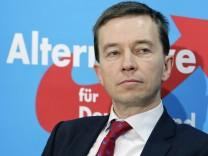16 02 2015 Berlin Deutschland Pressekonferenz der Partei Alternative für Deutschland AfD zu de