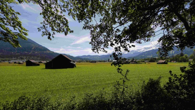 A field, where a protest camp of the G7 opponents was planned to be set up is pictured in Garmisch-Partenkirchen