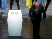 File picture shows FIFA President Blatter leaving stage after making speech during opening ceremony of 65th FIFA Congress in Zurich