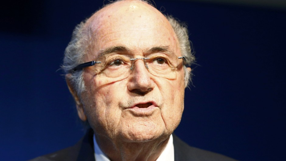 FIFA President Blatter addresses a news conference at the FIFA headquarters in Zurich