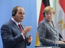 Ägyptischer Präsident Abdel Fattah al-Sisi in Berlin