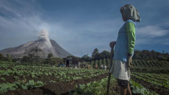 Vulkanausbruch Angst auf Sumatra