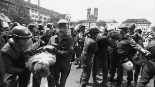 Polizeieinsatz beim Weltwirtschaftsgipfel in München, 1992