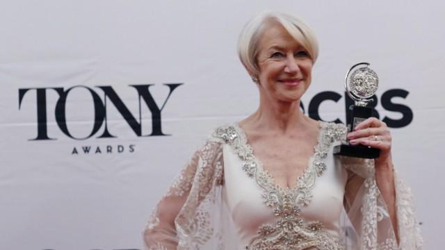 """Helen Mirren in New York mit dem """"Tony Award""""."""