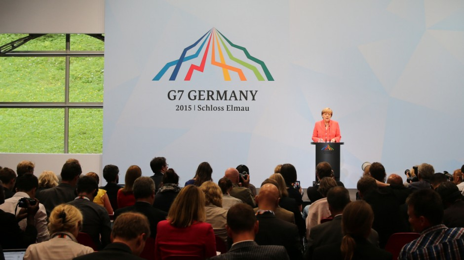 G7-Gipfel 2015 - Pk Merkel