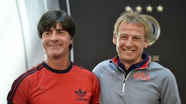 Deutsche Nationalmannschaft Löw und Klinsmann vor Länderspiel