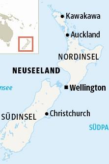 Neuseeland Nordinsel Südinsel Karte Map Grafik Plan