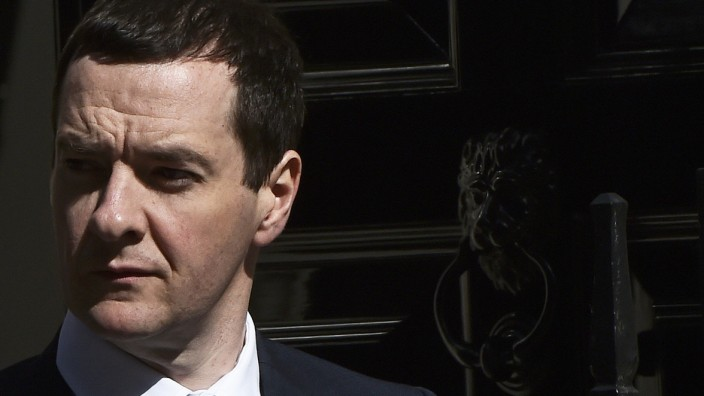Britain's Chancellor of the Exchequer George Osborne leaves number 11 Downing Street in London