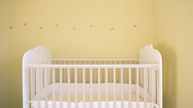 Crib in nursery