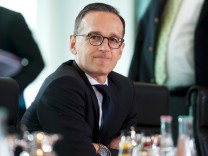 German Justice Minister Maas attends the weekly cabinet meeting at the Chancellery in Berlin
