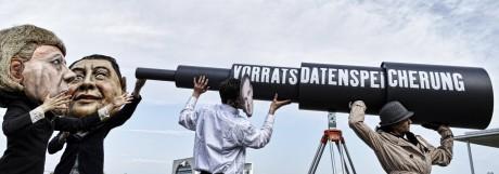 Bürgerrechtler protestieren gegen Vorratsdatenspeicherung Die Große Koalition berät über ein Gesetze