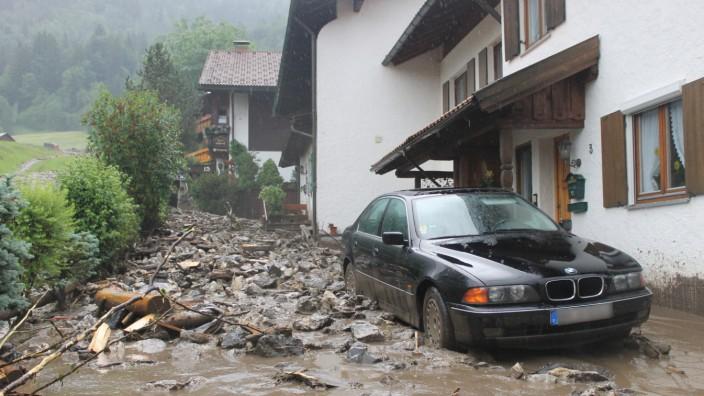Schlammlawine in Oberstdorf