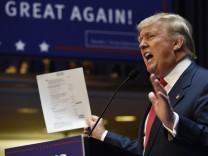 Immobilien-Tycoon Donald Trump will US-Präsident werden