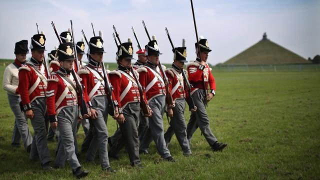 Reenactors Prepare To Commemorate The 200th Anniversary Of The Battle Of Waterloo
