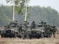 Tschechische Soldaten während eines Nato-Manövers in Polen 2015