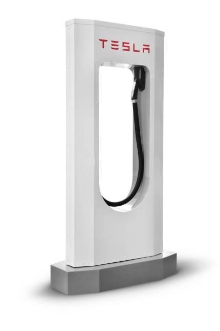 Tesla supercharger charging station isolated on white background with clipping path PUBLICATIONxINxG