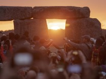 Stonehenge to celebrate the Summer Solstice, the longest day of the year, near Salisbury, England