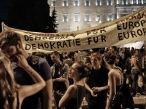 A Pro-Government Rally In Greece Calls For Softer Stance From Creditors