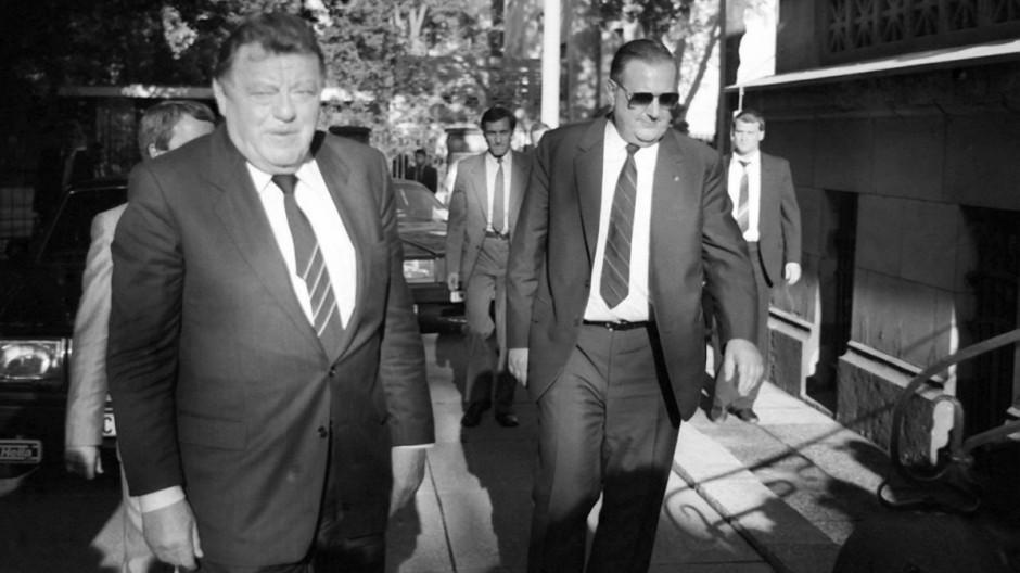 Alexander Schalk-Golodkowski und Franz Josef Strauß