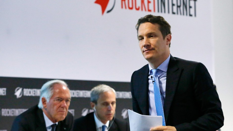 CEO Samwer of Rocket Internet walks to the podium during their shareholder meeting in Berlin