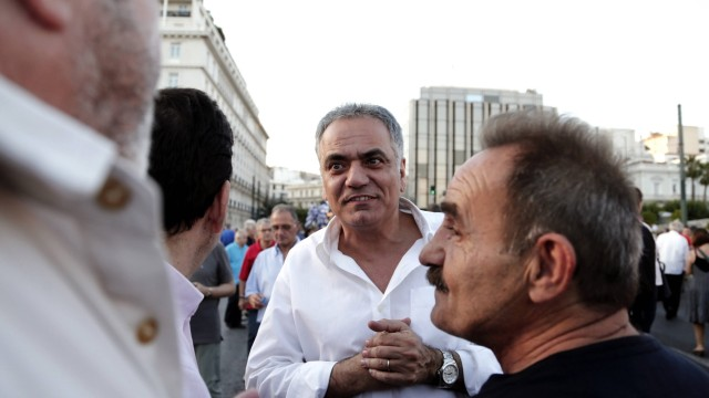 June 17 2015 Athens Greece Protest rally against austerity measures at Syntagma square in cent
