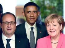 Hollande, Obama, Merkel