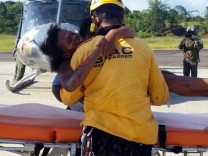Rescue of mother and her son after plane accident