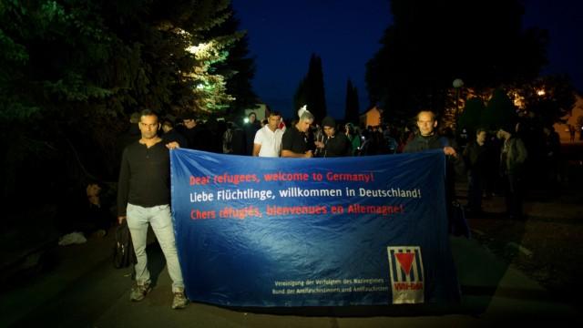 Protest gegen Flüchtlinge in Freital