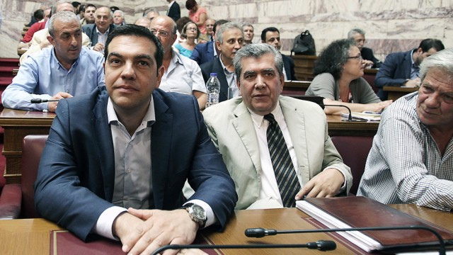 SYRIZA's Parliamentary group meeting in Athens