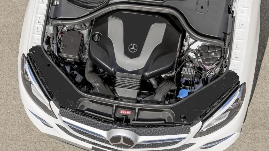 Der Motor des Mercedes GLE Coupé 350 d