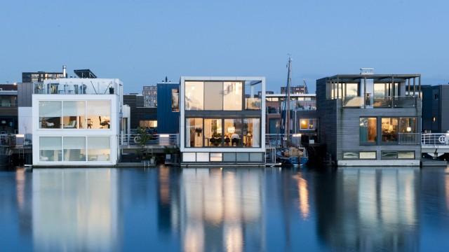 Foto: Friso Spoelstra.; Schwimmende Häuser in Amsterdam Ijburg