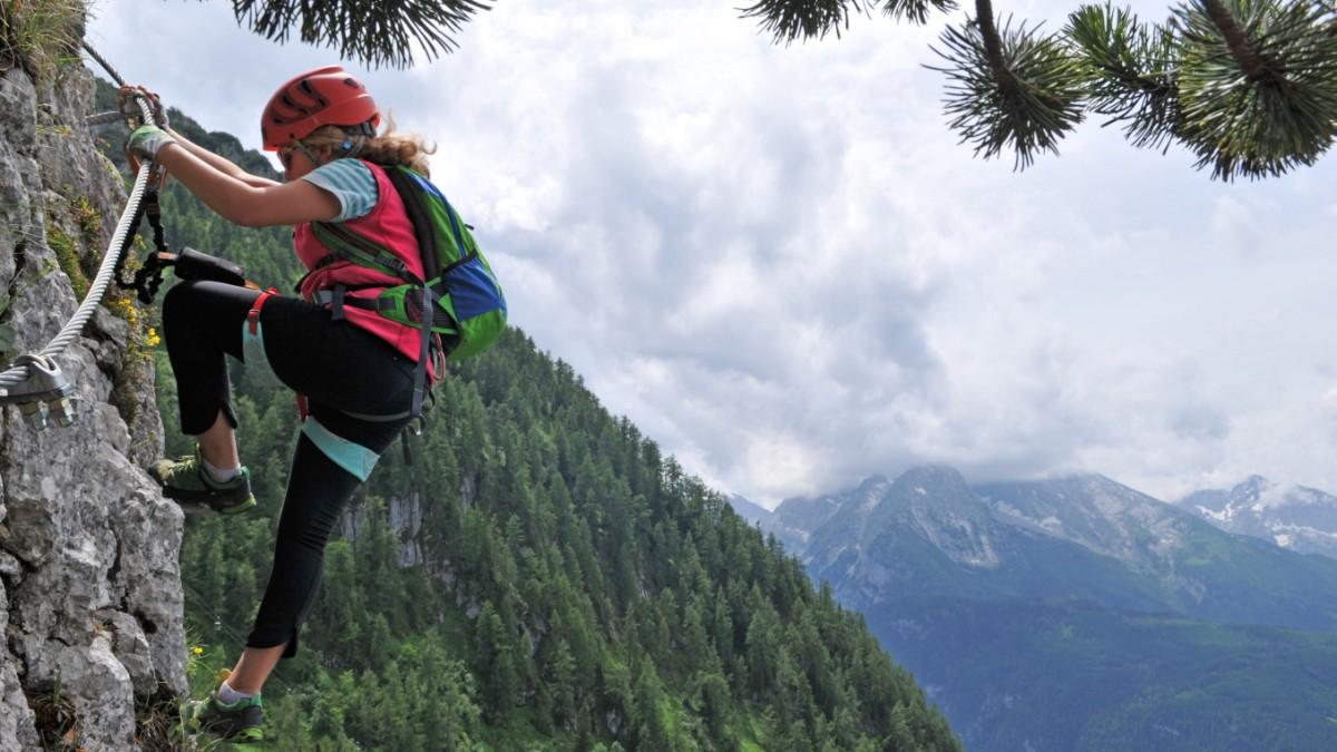 Klettersteig Bayern : Klettersteig am grünstein berchtesgadener alpen bayern