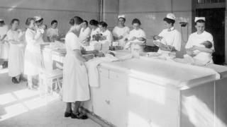 Hebammen-Ausbildung, 1927
