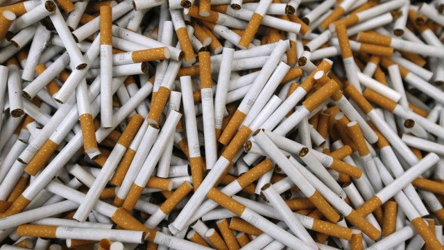 File photo of cigarettes seen during the manufacturing process in BAT Cigarette Factory in Bayreuth