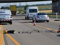 Blow up auf der Autobahn A5