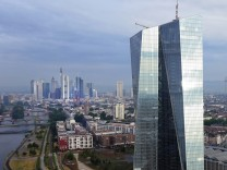 European Central Bank And Frankfurt Financial District