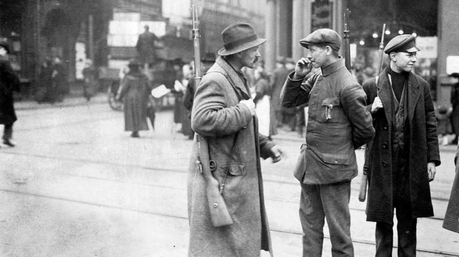 Streife der Arbeiterwehr in München, 1919